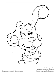 blues clues coloring pages nywestierescue com