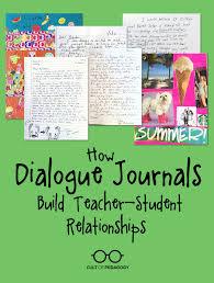 how dialogue journals build teacher student relationships cult