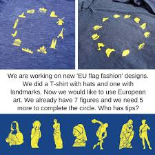 Blue Flag With Yellow Circle Eu Flag Fashion On Twitter