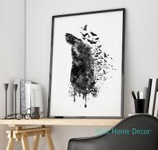 hanging posters without frames batman art print original watercolor poster home decoration batman