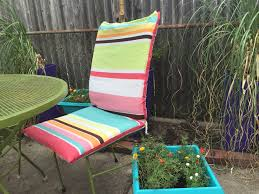 Cute Patio Furniture by Weekend Diy Turn An Old Shower Curtain Into Super Cute Patio