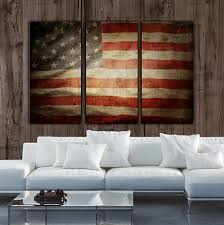 American Flag Living Room by Vintage American Flag On Canvas 3 Panel Set Perfect For Any