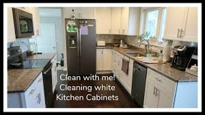 best way to clean white kitchen cupboards kitchen cabinet clean with me cleaning white kitchen cabinets