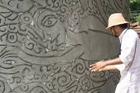 aesthetic grounds cement relief murals nair mitchell nivola suresh nair