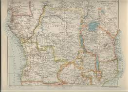 Congo Africa Map Angolan Links And Old Maps