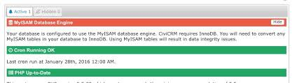 Change Table From Myisam To Innodb Mysql Myisam Database But All Civicrm Tables Are Innodb Is
