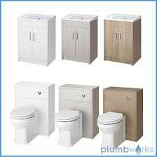 white stone grey u0026 oak bathroom furniture with toilet plumbworkz