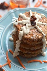 healthy carrot cake pancakes with cheese gf low cal