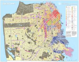 San Francisco City Map by San Francisco Land Use Map Michigan Map