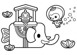 octonauts coloring pages captain barnacles from the octonauts meet sea elephant coloring