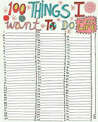 100 things i want to do in my great for journaling or