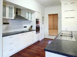 Kitchen Cabinets Without Hardware by Kitchen Kitchen Styles Galley White Solid Wood Cabinets Stove