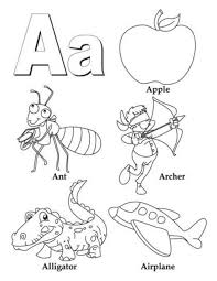 alphabet coloring pages b words alphabet coloring pages of