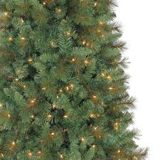 7 ft pre lit green full willow pine artificial christmas tree