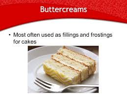 buttercreams and cake decorating objective compare the two types