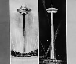 stunning photos capture workers who built space needle the