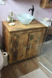old barn wood bathroom vanity rectangular white glossy ceramic