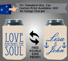 Love Anchors The Soul Print - love anchors the soul names collapsible fabric wedding can cooler