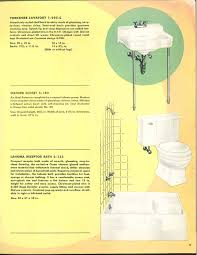 24 pages of vintage bathroom design ideas from crane 1949