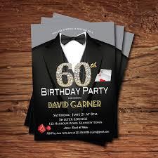 casino 60th birthday invitation man birthday party