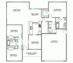 open plan bungalow floor plan one level floor plans 3 bed examples