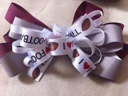 hair bows galore medium made school spirit hair bow