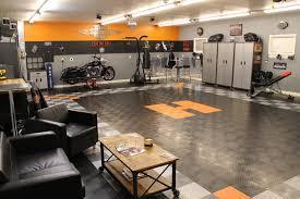 home interior decorating harley davidson bedroom decor racedeck garage floor makes this harley davidson garage theme shed