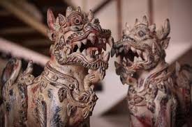 foo dogs pair of ceramic temple guardians foo dogs siam sawadee