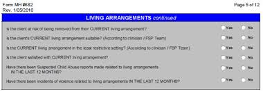 living arrangements dmhoma outcome measures children living arrangements