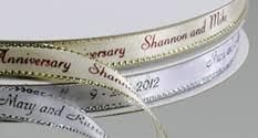 engraved ribbon personalized gifts personalized metallic edge ribbon custom