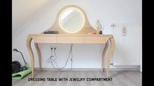Jewelry Vanity Table Dressing Vanity Table With Makeup Led Ring Light Mirror Design And
