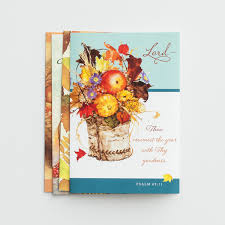 thanksgiving thanking god 12 boxed cards kjv dayspring