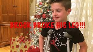 brock broke his leg youtube