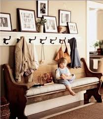 Benches For Entryways Old Wooden Church Pew With Padding As A Foyer Bench And A Long