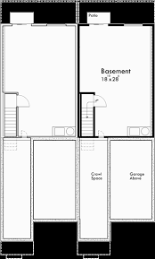 duplex house plans walk out basement house plans d 582