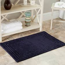 Navy Bath Mat Safavieh Spa 2400 Gram Luxury Navy 27 X 45 Bath Rug Set Of 2