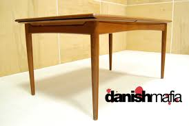 White Mid Century Dining Table Danish Dining Room Table Scandinavian Dining Room Design Ideas
