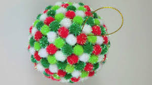 Pom Trees Pom Pom Christmas Ornament Youtube