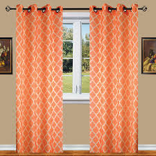 Orange And Brown Curtains Buy Best Orange Curtains Ease Bedding With Style