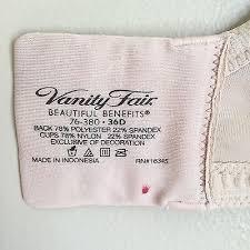 Vanity Fair Beautiful Benefits 76380 Vanity Fair Beautiful Benefits Bra 76380 Beige Underwire Back