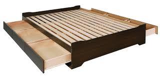 Bed Platform With Drawers Prepac Ebd 5600 3bv Coal Harbor Mates Platform