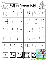 roll and trace numbers 11 20 roll a die and trace a number tons