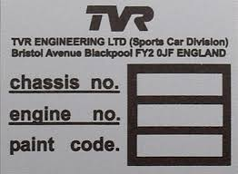 vin plates replacement vehicle identification number plates for
