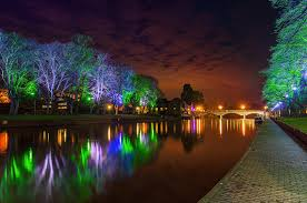 Fairy Lights In Trees by Picture Nature Bridges Pond Parks Night Fairy Lights Trees