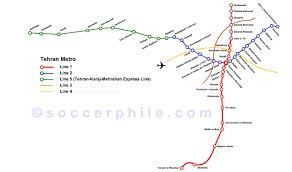 Tehran Map Tehran Metro U0026 Tehran Metro Map Iranvisitor Travel Guide To Iran