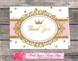 printable thank you cards princess royal princess gold crown thank you card printable thank you