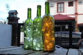 How To Make Christmas Light by Christmas Lights In Wine Bottle Christmas Lights Decoration