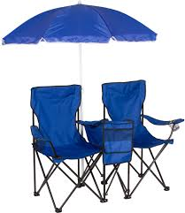 Ll Bean Beach Umbrella by Double Folding Camp And Beach Chair With Removable Umbrella And