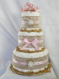 Shabby Chic Baby Shower Cakes by 3 Tier Blush Pink And Champagne Gold Diaper Cake Baby