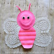 Butterfly Crafts For Kids To Make - sweet u0026 lovely paper plate butterfly kids craft artsy momma